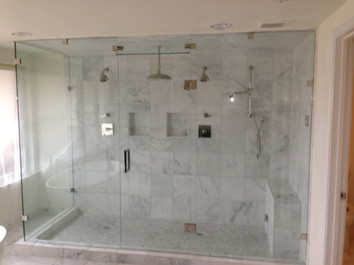 double shower 1 dfw bath and glass