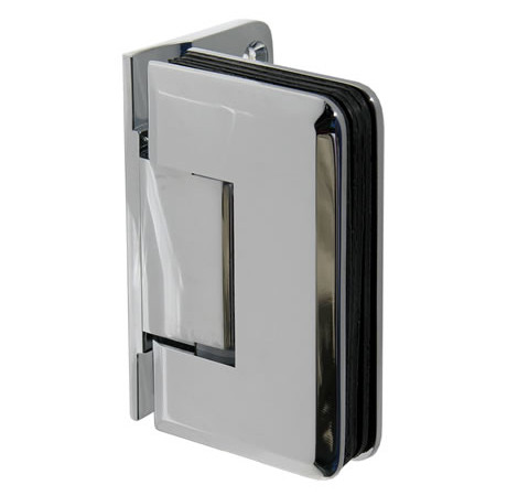 Traditional Glass to Wall Hinge with Offset Back Plate Beveled Edge