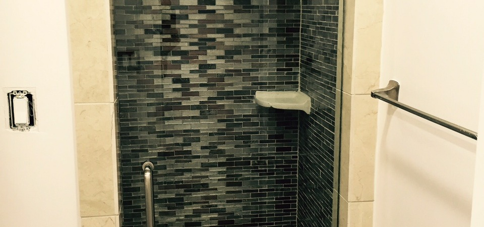Frameless Shower Dark Black
