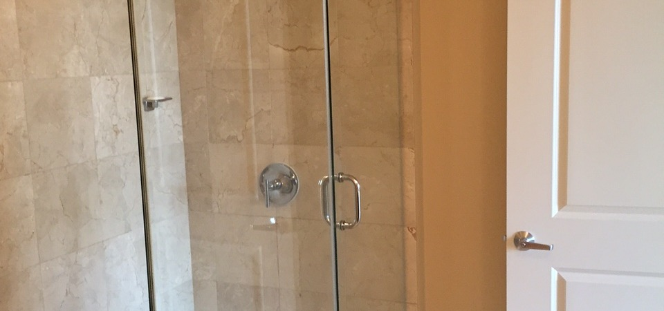 Frameless Shower Light Brown