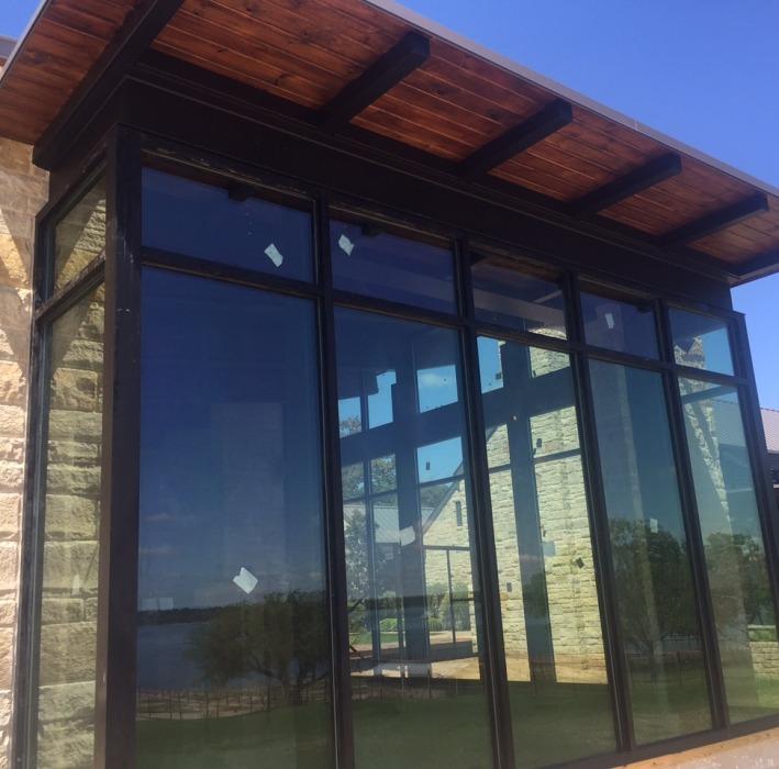 glass window installation