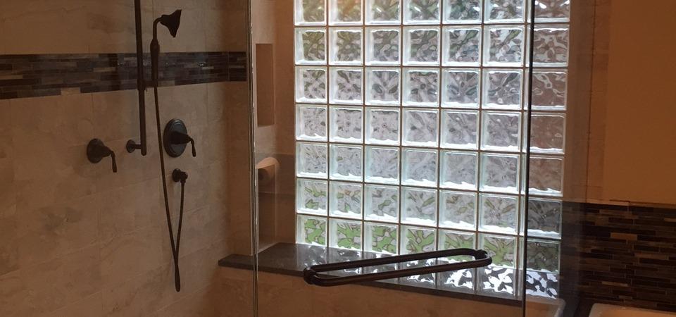 Brown Frameless shower 2