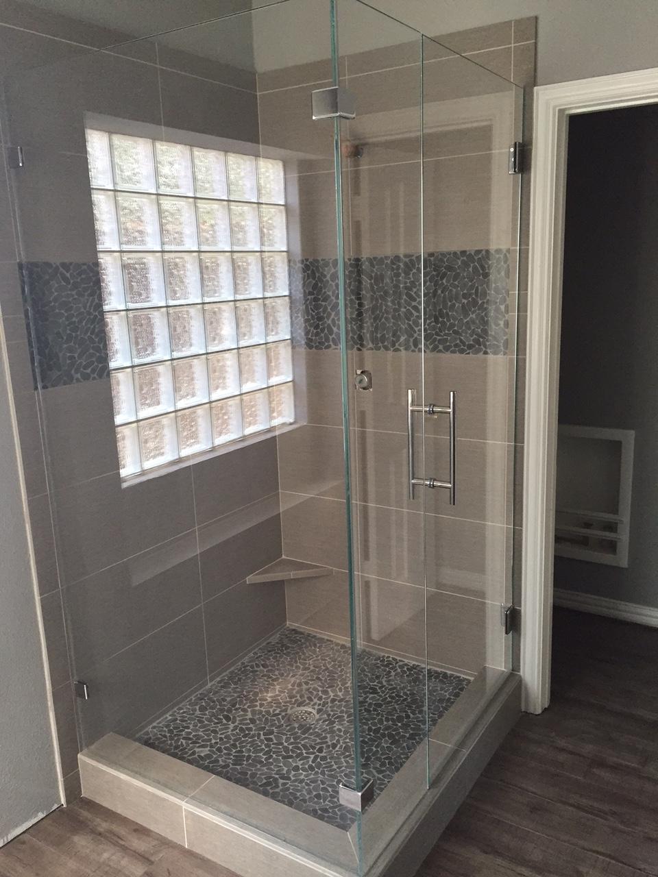 Star Fire Glass Shower - DFW Bath and Glass