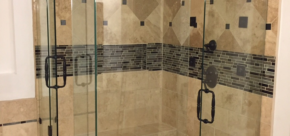 Frameless shower with 2 Doors (A)