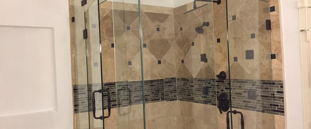Frameless shower with 2 Doors (B)