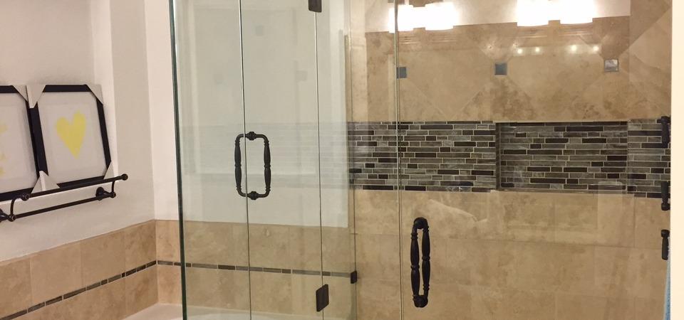 Frameless shower with 2 Doors (C)