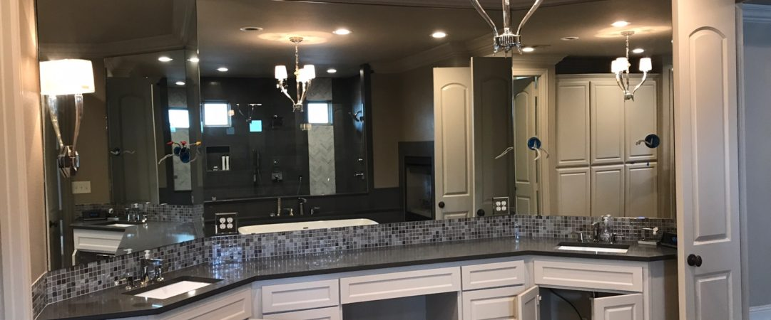 Master Bathroom Mirror Installation