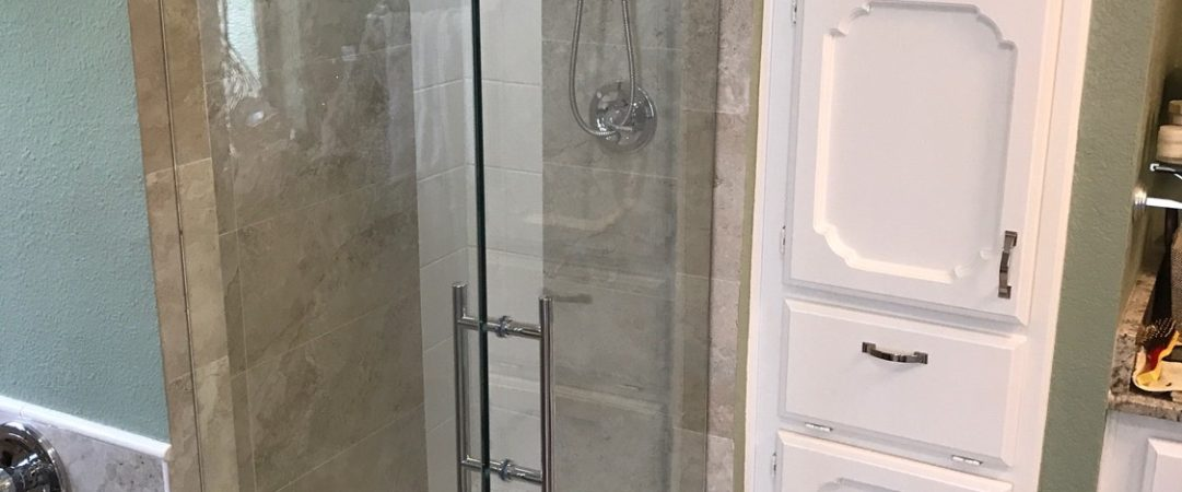 Small Frameless Shower