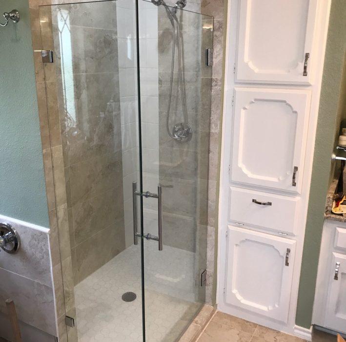 Small Frameless Shower