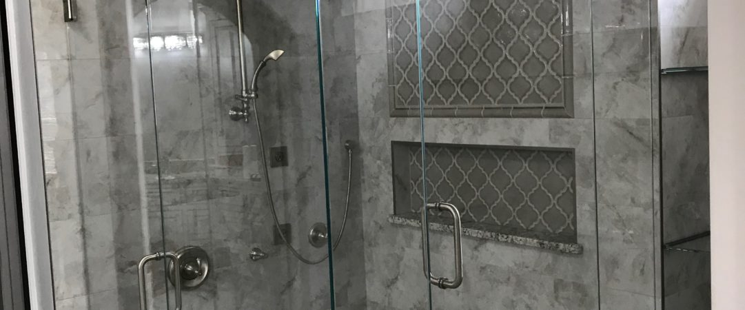Gray Frameless Shower 2