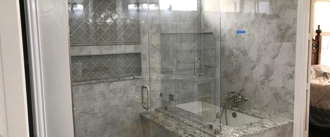 Gray Frameless Shower 1
